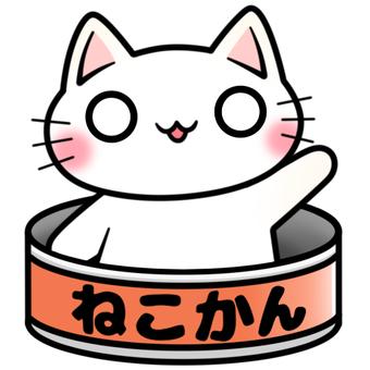 猫缶と白猫ちゃん