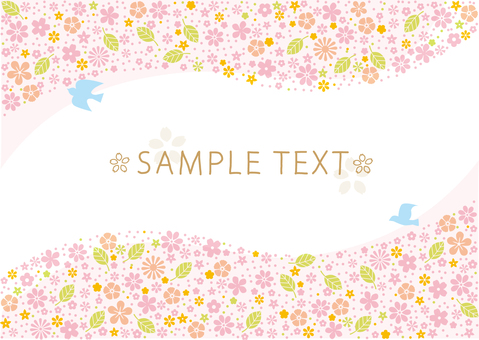 Spring flower pattern decorative frame