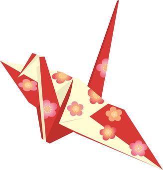 Plum flower folding cranes