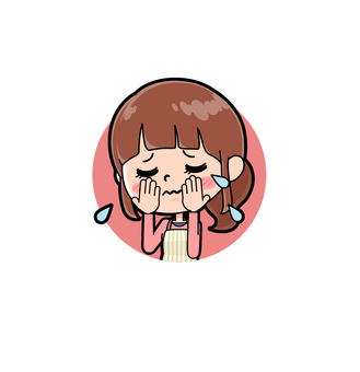 Apron mother icon crying