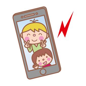 Smartphones (wallpaper children / grandchildren)