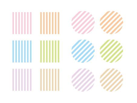 Pastel stripe pattern