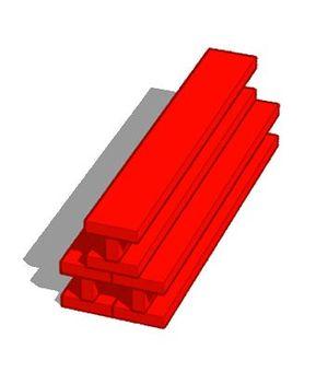 Red steel frame