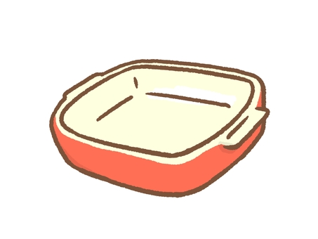 Baking dish red