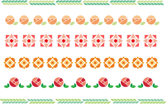 Simple decorative border 12 colors