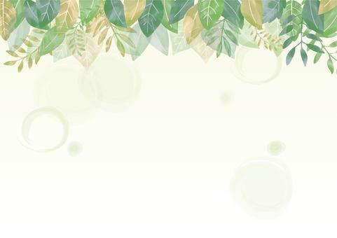 수채화 나뭇잎 프레임 02