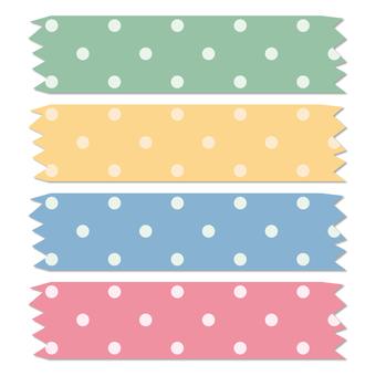 Masking tape polka dot 1