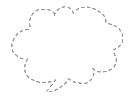 Dotted speech bubble (gray)