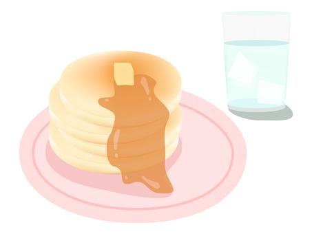 Pancake and glass set