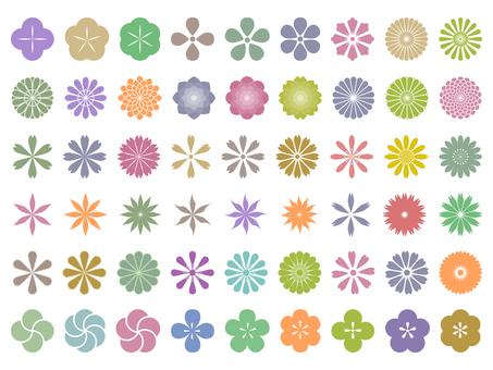Japanese style flower set
