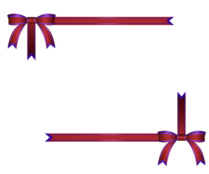 Red ribbon decorative frame