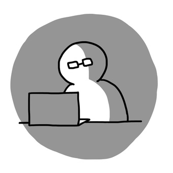 The person who looks at a personal computer
