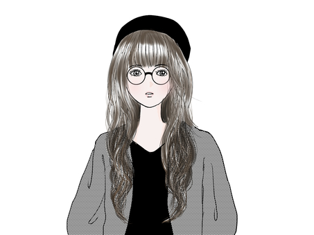 Stylish woman (glasses)
