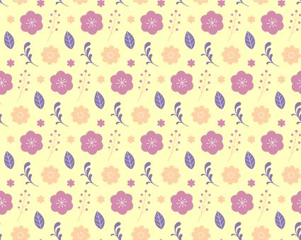花のカラフルパターン