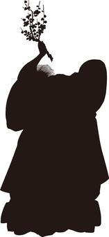 Ukiyo-e character silhouette part 91