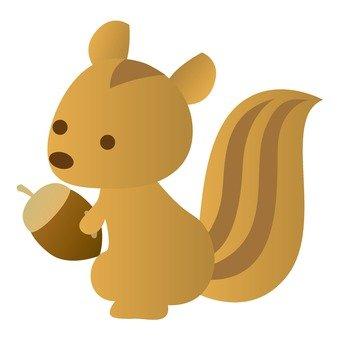 Autumn Festival - Squirrel with acorns