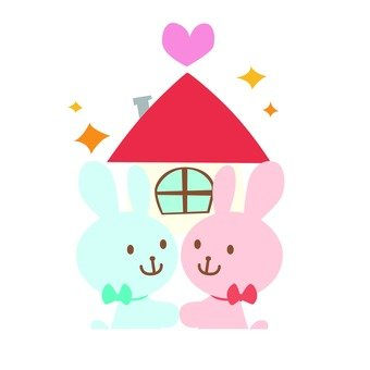 Love love rabbit and sweet home