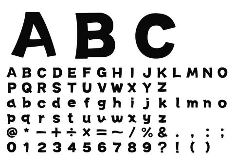 ラフなゴシックのアルファベット