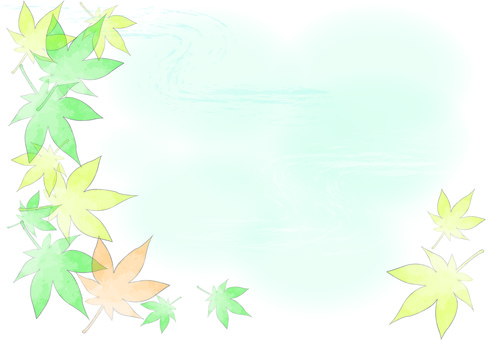 Autumn leaves in summer