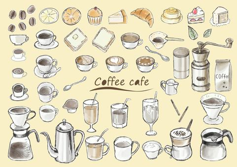 Watercolor coffee cafe-color