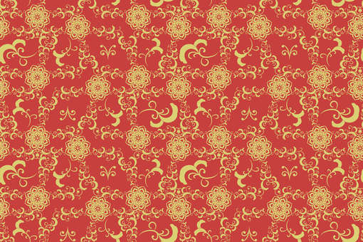 Chinese pattern-floral background pattern 1 gold