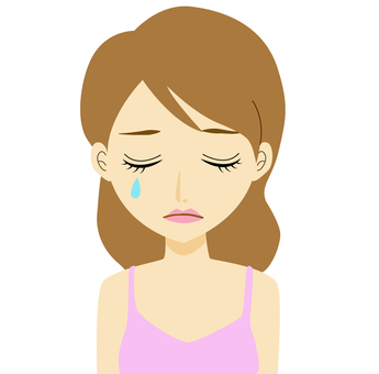 Hin-chan series Woman crying