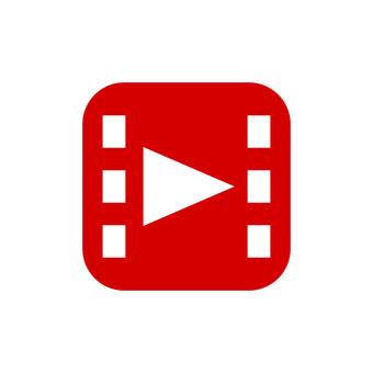 Illustration icon of video playback mark