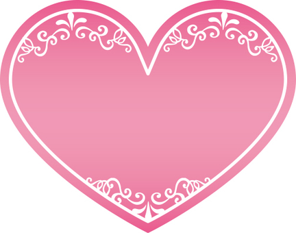 Heart decoration frame Pink