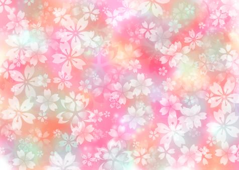 흐림 벚꽃 벽지