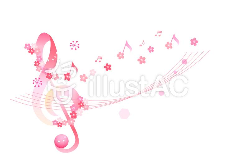 春の音符イラスト No 743655無料イラストならイラストac