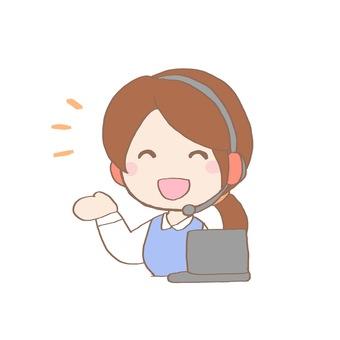 Female operator (smile)
