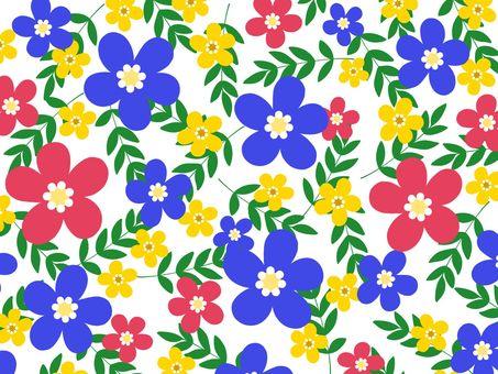 Scandinavian style flower background material 02 / blue b