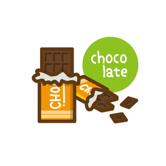 Chocolate icon illustration