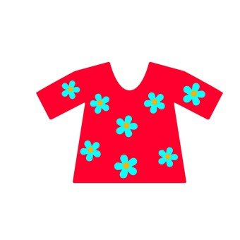 T-shirt · flower pattern