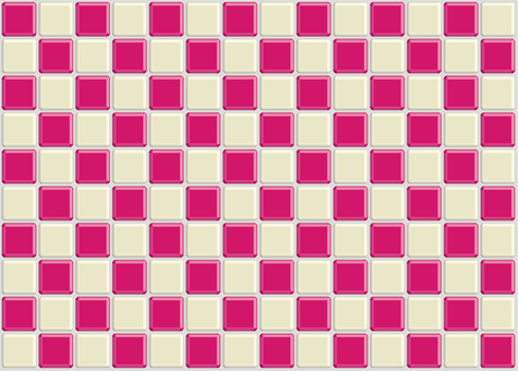 Mine checkered tile pink