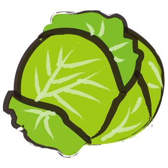Cabbage brush writing wind
