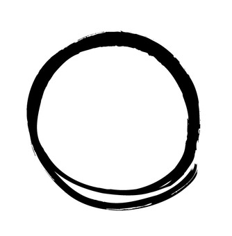 Writing brush brush circle
