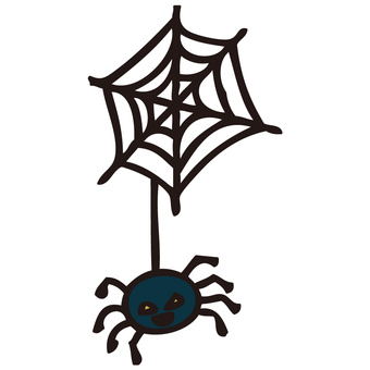 Halloween illustration spider web