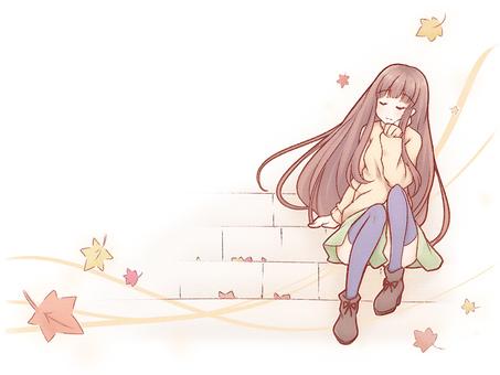 Stairway girl
