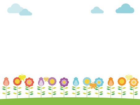 Colorful flower decorative frame 2