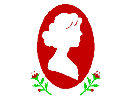 Woman silhouette and carnation