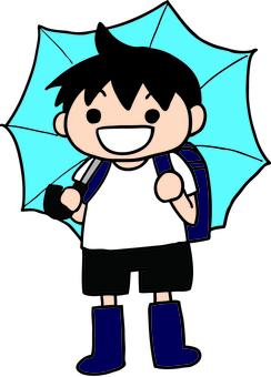 비오는 날의 소년