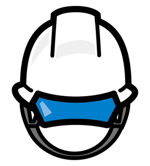 Helmet construction front front cord rope