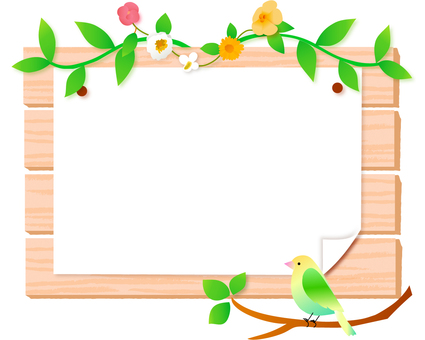 Bird and wood frame