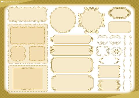 Decorative border frame set (elegant)
