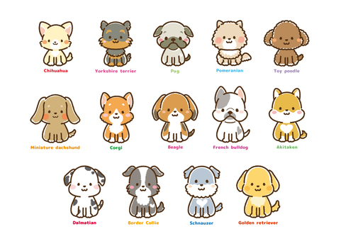 Various dogs