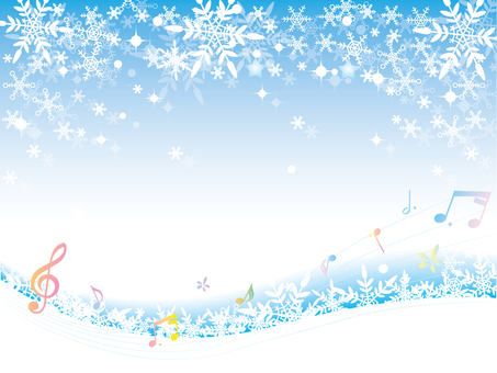 Snow crystal _ winter background _ new two notes