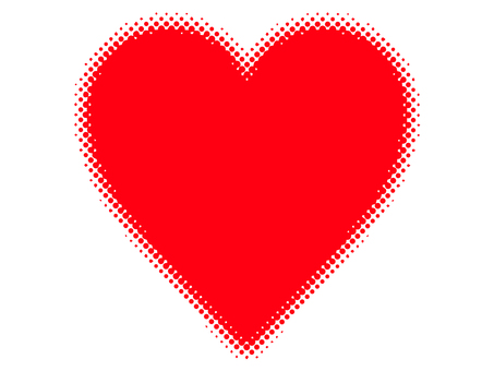 Halftone Heart Dot