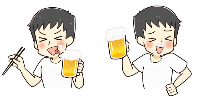 ビール美味い!(Tシャツバージョン)