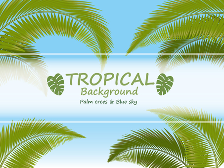 Summer background palm leaf template